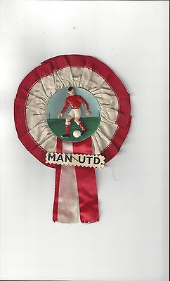 Manchester United Player small Vintage Football Rosette