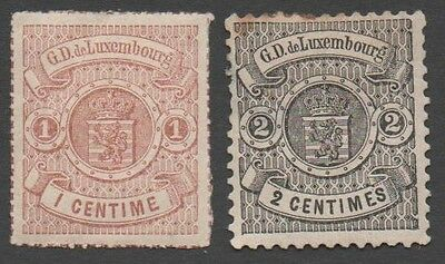 Luxembourg stamps. 1875 -1879 Coat of Arms. MH