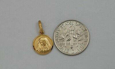 10K gold Virgin Mary ( Madonna ) charm / pendant