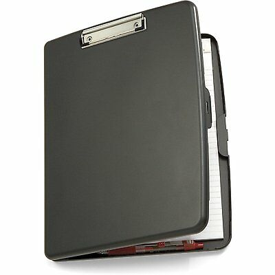 Officemate Clipboard Case Plastic Paper Letter Size Office Storage Box Slim Gray