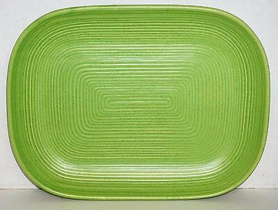 Royal Stone China Lime Green Speckled Embossed Rectangle Platter Rare Color EUC