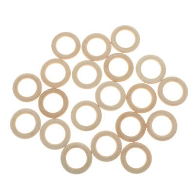 20pcs 35mm Unfinished Wooden Ring Maple Circle for Crafts Jewelry Making
