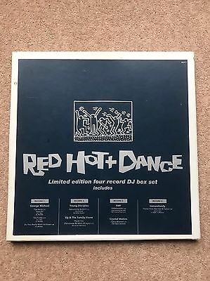 GEORGE MICHAEL & other inc EMF - Red Hot & Dance 4LP Promo Box Set