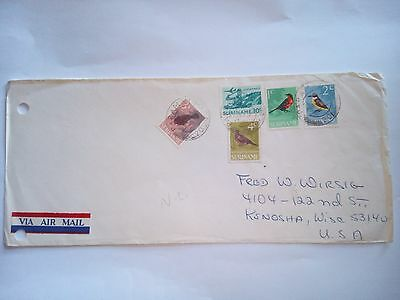 Suriname 1971 Stamped Cover Air Mail To Kenosha Wisconsin Usa Stamps