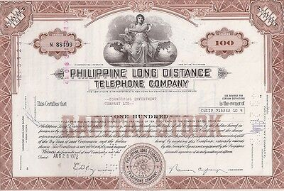 Philippine Long Distance Telephone Company....1972 Stock Certificate