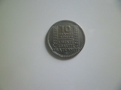10 FRANCS TURIN GROSSE TETE 1946 B RAMEAUX COURTS Cupro nickel BELLE PIECE