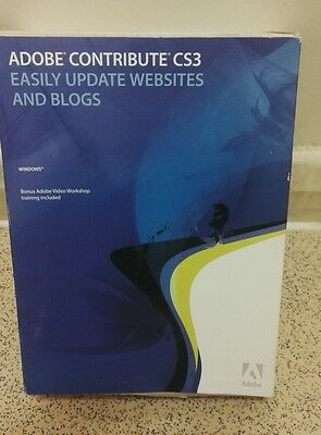 Adobe Contribute CS3 with serial number Easily update websites and blogs