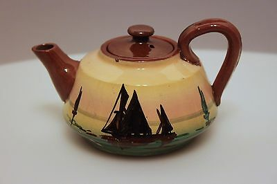 Torquay Motto Ware small tea pot with ships