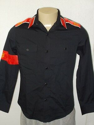 Nwt! Michael Jackson Cte Arm Band Black Long Sleeve Button-Front Shirt Men Small
