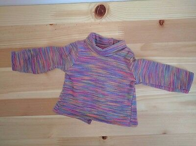 American Girl Doll Classic Julie Striped Mock Turtleneck Meet Outfit Shirt