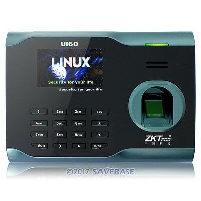 New ZKsoftware Fingerprint Attendance Time Clock With WiFi Function +TCP/IP+USB