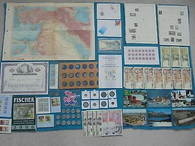 MASSIVE DEALERS LOT COINS & BANKNOTES, SHARES, MAPS, STAMPS, POSTCARDS! & more!!