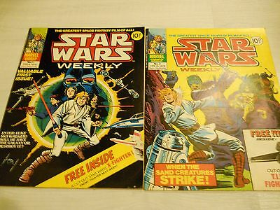 Star Wars Weekly UK Comics Issues No1 & 2 & FREE GIFTS Excellent Condition 1978