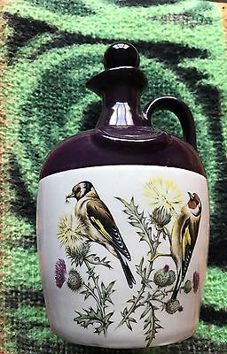 Montrose Pottery Whiskey Bottle With Birds