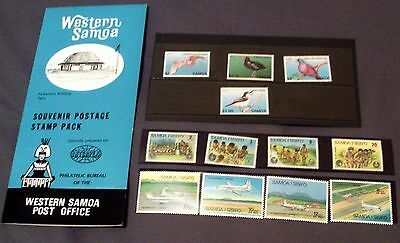 3 Sets Of Mnh Stamps From Western Samoa, Good Sets, Souvenir Postage Stamp Pack.
