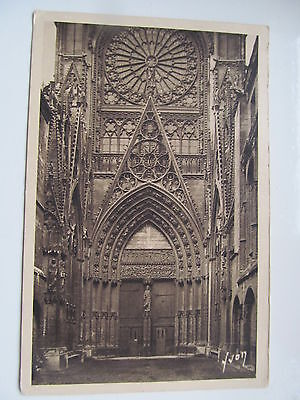 Rouen Cathedrale 1937 stamp French YVON postcard,113-Collection Normandie
