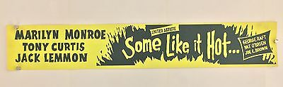 Some Like It Hot Original Paper Banner Movie Poster. Extremely Rare!