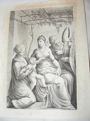 Antique Andrea Meldolla Schiavone Orig Etching Virgin Attended By Saints R Ford