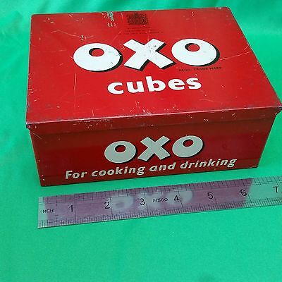 OXO Cubes tin box, Vintage.