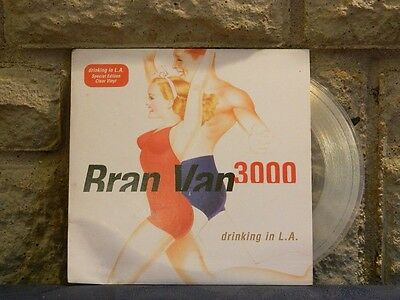 "Bran Van 300 Drinking In LA Special Edition Clear 7"" Single Vinyl Record"