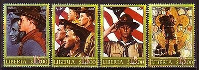 + Liberia, 2006 issue. Norman Rockwell`s Scout Illustrations issue.