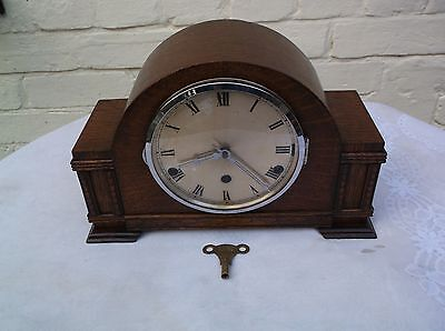 A Beautiful Mantle Clock  With 4X4 Westmnster Chimes