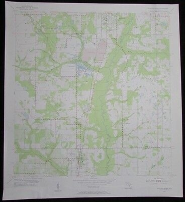Bowling Green Florida Peace River vintage 1956 old USGS Topo chart