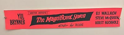 The Magnificent Seven Original Paper Banner Movie Poster. Extremely Rare!