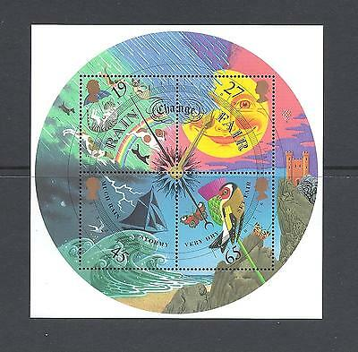 Gb 2001 The Weather Miniature Sheet Mnh