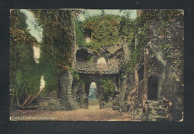 Castle Courtyard, Abergavenny, Monmouthshire Rppc Used