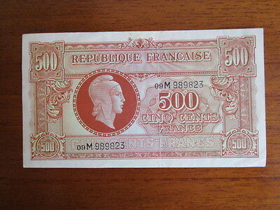 Banknote Frankreich 500 Francs Type Marianne