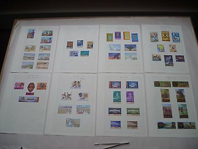 ZAMBIA 8 Small Album pages of 56 mint stamps various sets see pictures.