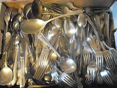150 Pc Mixed Lot Silverplate/Antique Flatware/Serving   #100