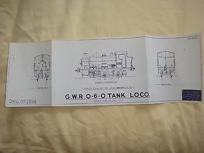 Skinley Drawing OO Scale G.W.R 0-6-0 Class 1361  DWG 4mm (239H)