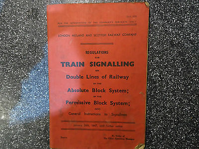 LMS Railway Regulations for train signalling double lines 1947