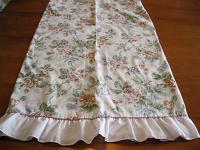 JC Penney Pink Roses Ruffled Queen Size Cotton Blend Percale Pillowcase