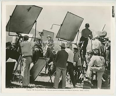 Richard Dix Tom Tyler Cherokee Strip Cameras Rolling Vintage Production Photo