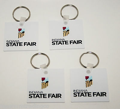 Set of Four (4) Indiana State Fair Keychains IN Souvenirs