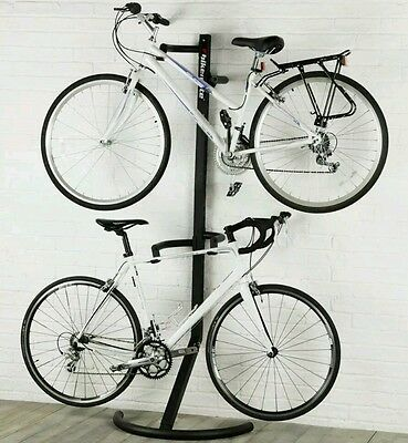 Bike Cycle Bicycle Stand for Storing 2 Bikes Tidy Storage Solution Shed Garage