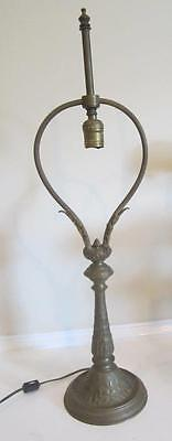 Antique French Bronze Late 19Th C Table Lamp  - Classical Acanthus Leaf Motif