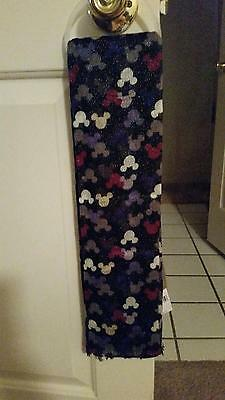BRAND NEW Disney Parks Black Mickey Mouse Glitter Scarf Thin Sheer Rayon