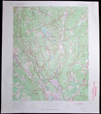 Spring Hill Connecticut University of Connecticut vintage 1971 USGS Topo chart