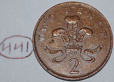 1988 Great Britain 2 Pence UK Coin KM# 936 Lot #441