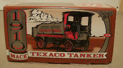 Texaco 1910 Mack Tanker Bank - 1995 Collector Series #12 New In Box ERTL