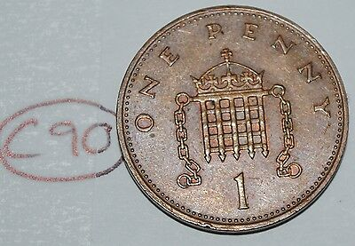 1983 Great Britain 1 Penny UK Coin KM# 927 Lot #C90