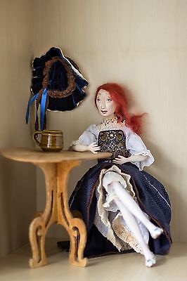 Art doll, OOAK. Handmade doll. The doll made of wood. Perfect gift.