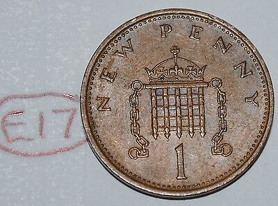 1981 Great Britain 1 New Penny UK Coin KM# 915 Lot #E17