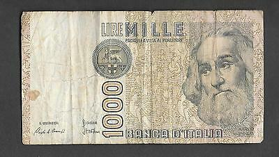 Italy 1,000 Lire Circulated Banknote 1982