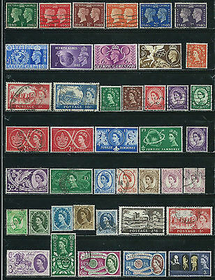 Great Britain - 42 old stamps mixed - Years 1940  to 1964 - King & Queen