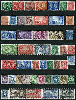 Great Britain - 48 old stamps mixed - Years 1940  to 1955 - King & Queen